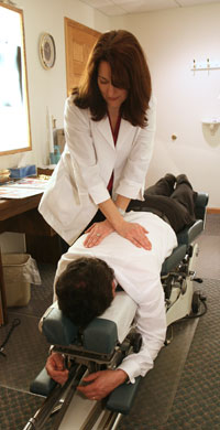 Dr. O'Connor Adjusts Patient